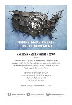 American Made Richmond Meetup Invitation